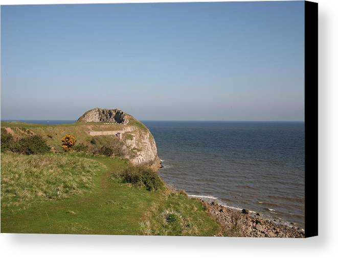 Cliffs Canvas Print featuring the photograph The Little Orme by Christopher Rowlands