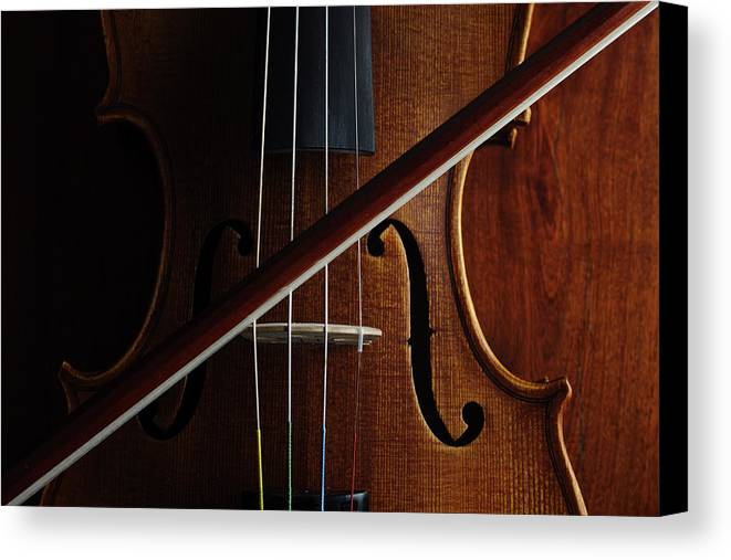 Horizontal Canvas Print featuring the photograph Violin by Nichola Evans