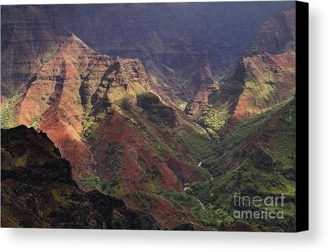 Waimea Canvas Print featuring the photograph Waimea Canyon by Neil Doren