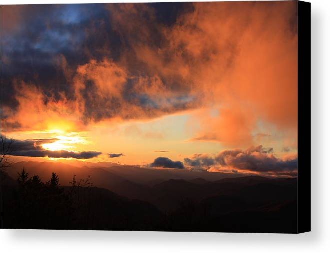 Canvas Print featuring the photograph Blue Ridge Parkway by Mountains to the Sea Photo