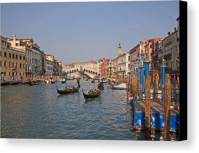 Architecture Canvas Print featuring the photograph Venice - Italy by Joana Kruse
