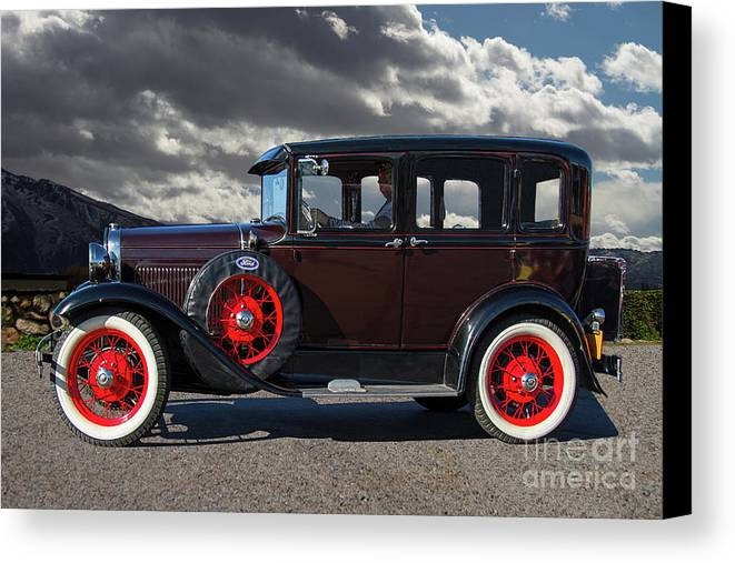 Ford Canvas Print featuring the photograph Classic 4 Door Ford by Nick Gray
