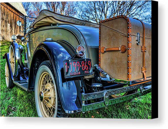 Ford Canvas Print featuring the photograph 1931 Ford Model A by Joe Holley