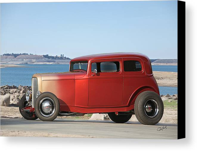 Auto Canvas Print featuring the photograph 1932 Ford Victoria IIi by Dave Koontz