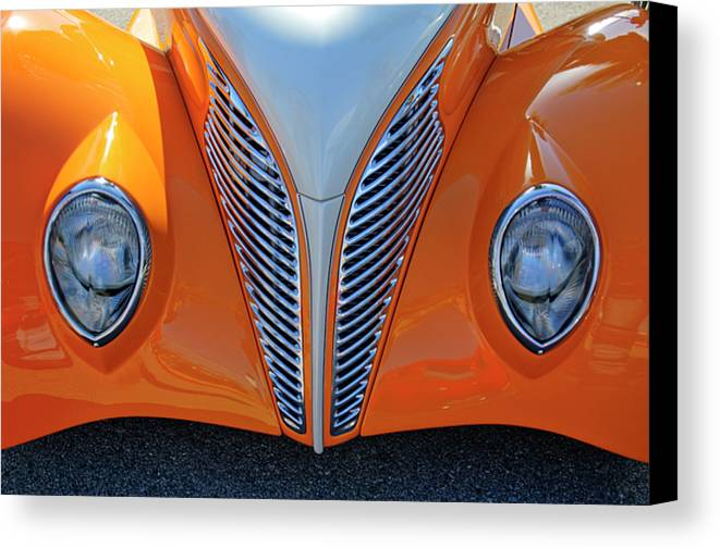 1939 Ford Canvas Print featuring the photograph 1939 Ford Hot Rod Cvt Grille by Jill Reger