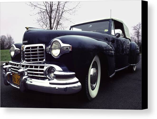 Lincoln Canvas Print featuring the photograph 1947 Classic Lincoln Ragtop On Moody Day by Anna Lisa Yoder