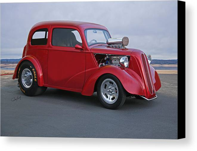 Auto Canvas Print featuring the photograph 1949 Anglia Pro Street I by Dave Koontz