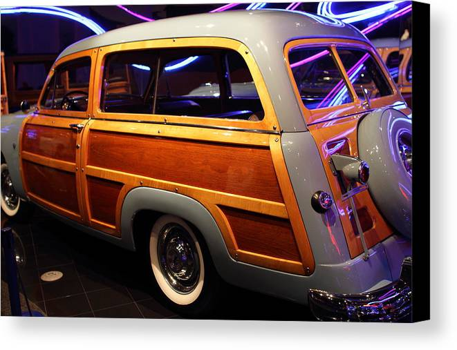 Transportation Canvas Print featuring the photograph 1951 Ford Country Squire - 7d17485 by Wingsdomain Art and Photography
