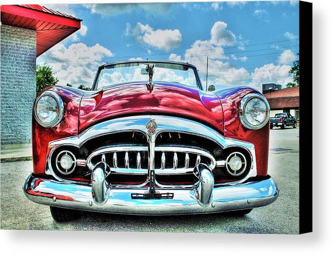 Automobile Canvas Print featuring the photograph 1952 Packard 250 Convertible by Karl Anderson