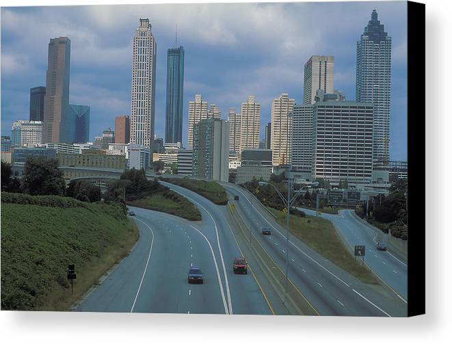 Highways Canvas Print featuring the photograph Atlanta Georgia by Carl Purcell