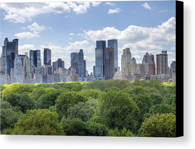 Central Park Canvas Print featuring the photograph Central Park South by Ariane Moshayedi