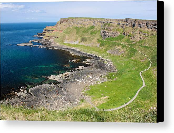 Giant Causeway Canvas Print featuring the photograph Giant Causeway Northern Ireland by Pierre Leclerc Photography