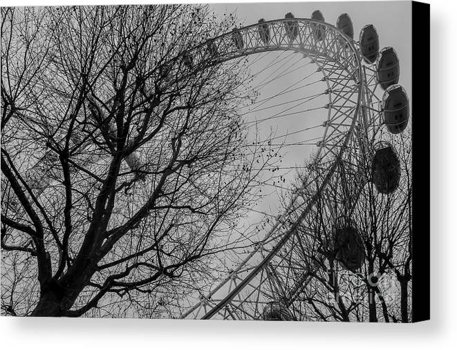 Landmark Canvas Print featuring the photograph London Eye by Arild Lilleboe