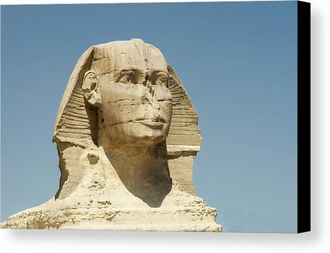 Egypt Canvas Print featuring the photograph Sphinx At Gisa, Egypt by David Henderson