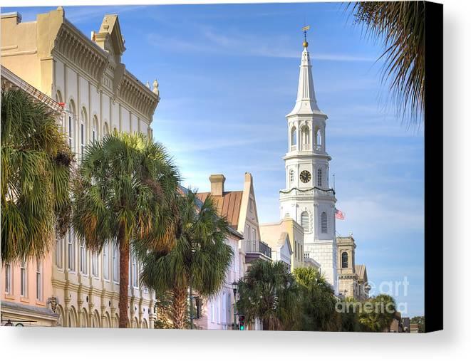 St Michaels Church Charleston Sc Canvas Print featuring the photograph St Michaels Church Charleston Sc by Dustin K Ryan