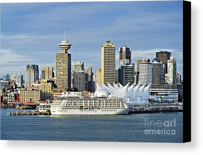 Business Canvas Print featuring the photograph Vancouver Skyline by John Greim