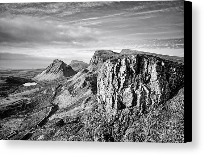 Quiraing Canvas Print featuring the photograph The Quiraing by Smart Aviation