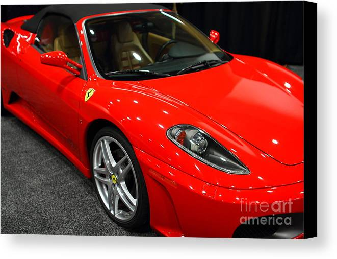 Transportation Canvas Print featuring the photograph 2006 Ferrari F430 Spider . 7d9385 by Wingsdomain Art and Photography
