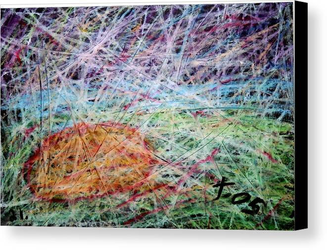 Canvas Print featuring the painting 21 by Terry Wiklund