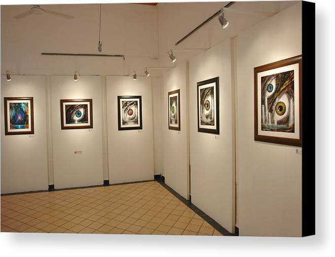 Exhibition Cozumel Museum Canvas Print featuring the photograph Exhibition Cozumel Museum by Angel Ortiz