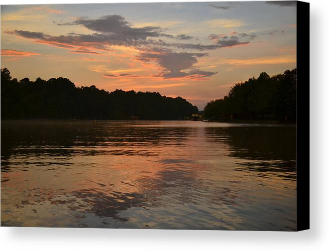 Lake Wedowee Canvas Print featuring the photograph Lake Wedowee Alabama by Mountains to the Sea Photo