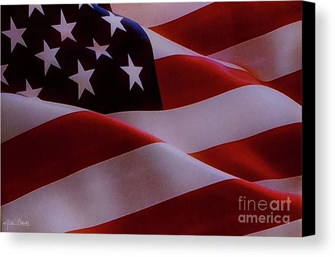 Pepperdine Canvas Print featuring the photograph The American Flag by Julian Starks