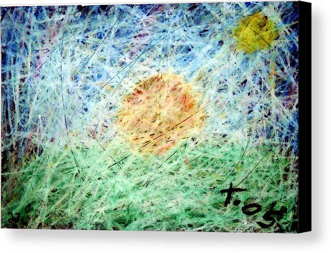 Canvas Print featuring the painting 31 by Terry Wiklund