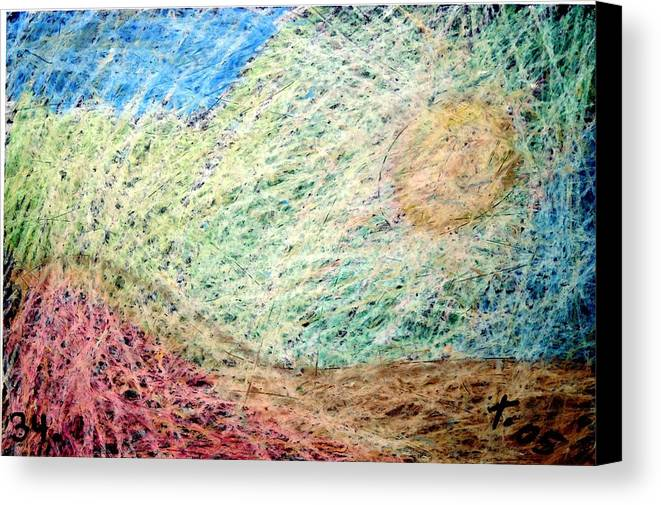 Canvas Print featuring the painting 34 by Terry Wiklund