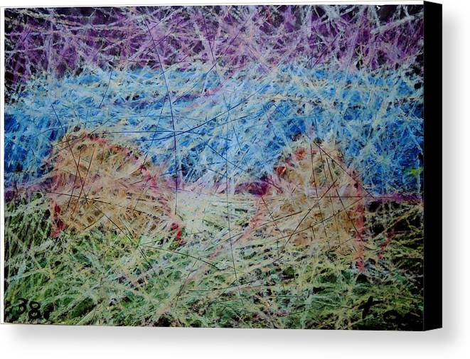 Canvas Print featuring the painting 38 by Terry Wiklund
