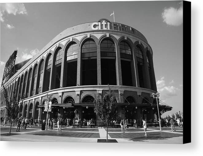 Arch Canvas Print featuring the photograph Citi Field - New York Mets by Frank Romeo