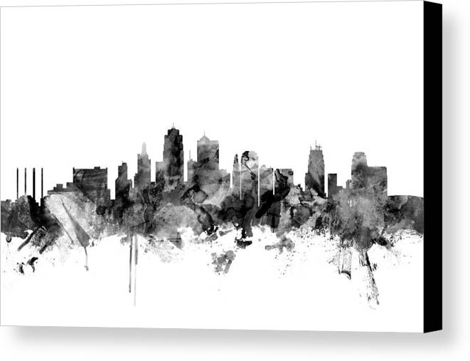 Kansas City Skyline Canvas Print Canvas Art By Michael