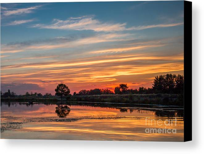 Reflections Canvas Print featuring the photograph Sunset Reflections by Robert Bales