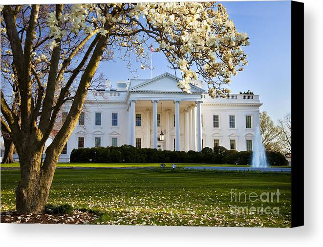 White House Canvas Print featuring the photograph The White House by Brian Jannsen
