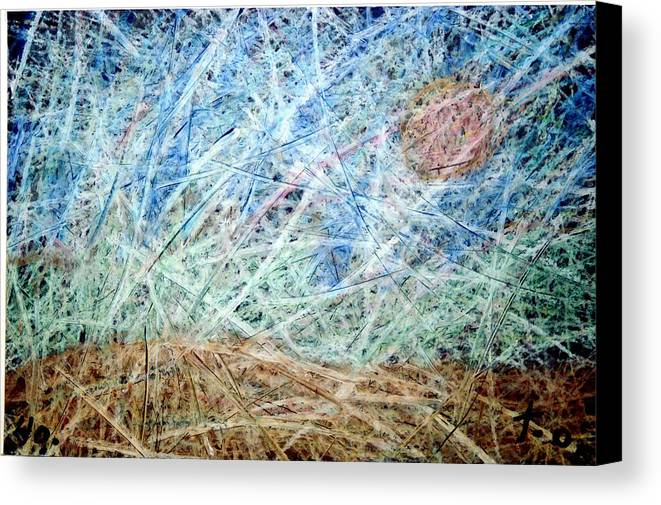 Canvas Print featuring the painting 40 by Terry Wiklund