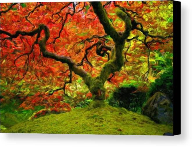 Art Canvas Print featuring the digital art Art Of Landscape by Usa Map