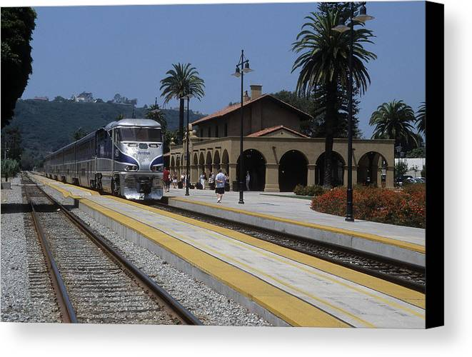 Train Station Canvas Print featuring the photograph Sheldon Coopers Favorite Train by Carl Purcell