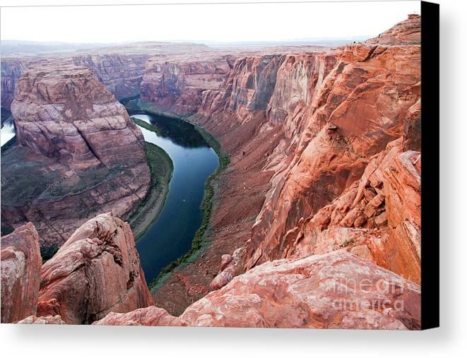 Horseshoe Bend Canvas Print featuring the photograph Horseshoe Bend Colorado River Arizona Usa by Gal Eitan