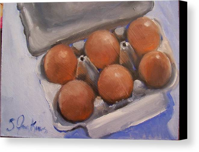 Still Life Canvas Print featuring the painting 6 Pack by Susan Jenkins