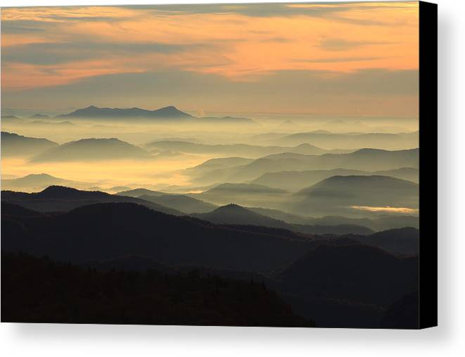 Canvas Print featuring the photograph Blue Ridge by Mountains to the Sea Photo