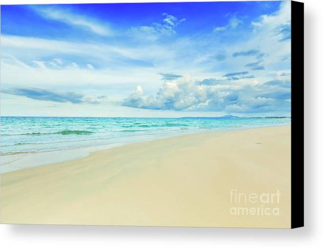 Bahamas Canvas Print featuring the photograph Beach by MotHaiBaPhoto Prints