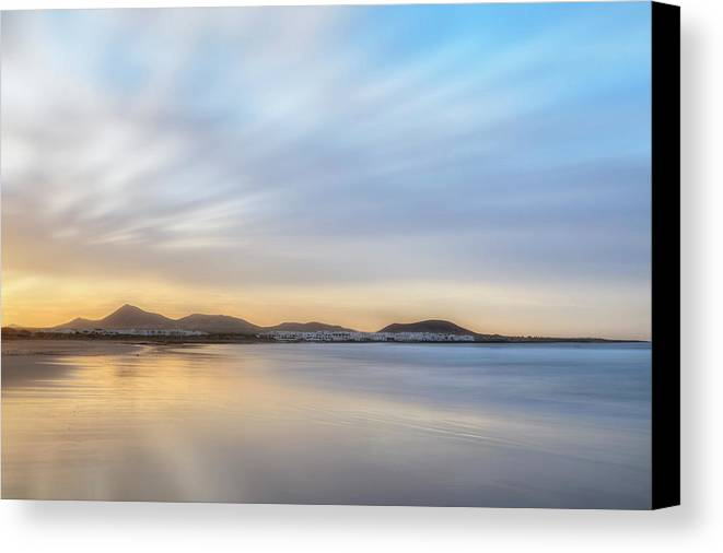 Playa De Famara Canvas Print featuring the photograph Famara - Lanzarote by Joana Kruse