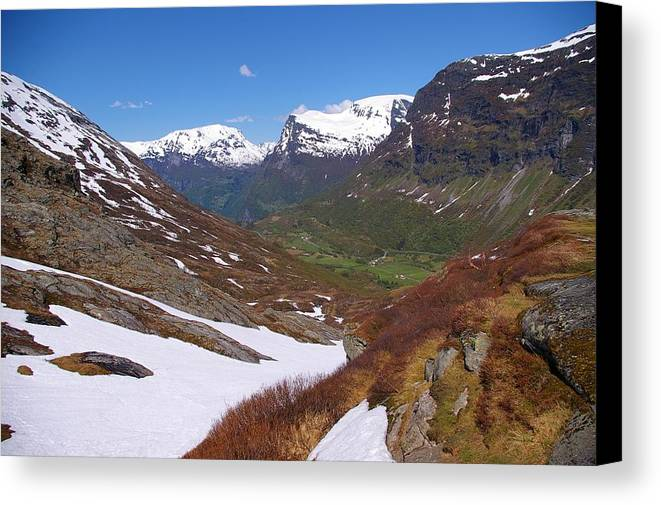 Mountains Canvas Print featuring the photograph Mountains by FL collection