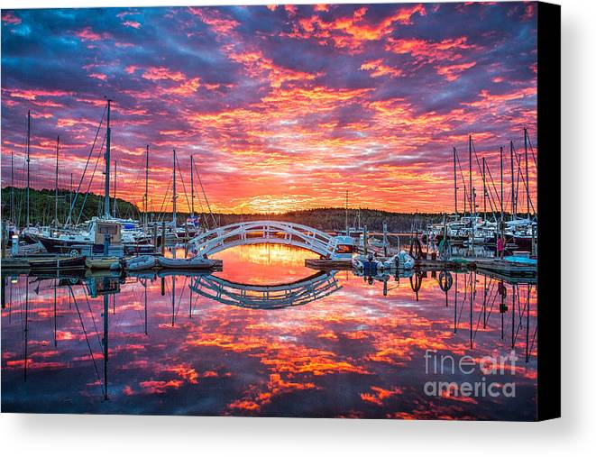 Arch Canvas Print featuring the photograph A Glorious Awakening by Benjamin Williamson
