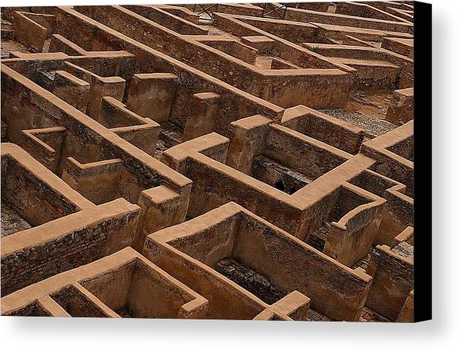 Jez C Self Canvas Print featuring the photograph A Maze Life Is A Maze by Jez C Self