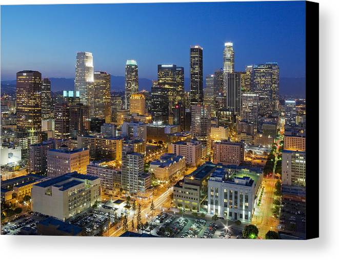 Los Angeles Canvas Print featuring the photograph A Night In L A by Kelley King