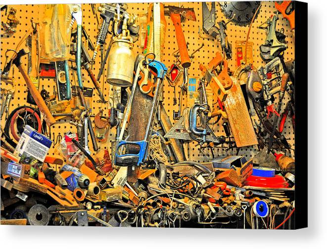 Tools.workshop Canvas Print featuring the photograph A Place For Everything And Everything In It's Place by Andrew Armstrong - Mad Lab Images