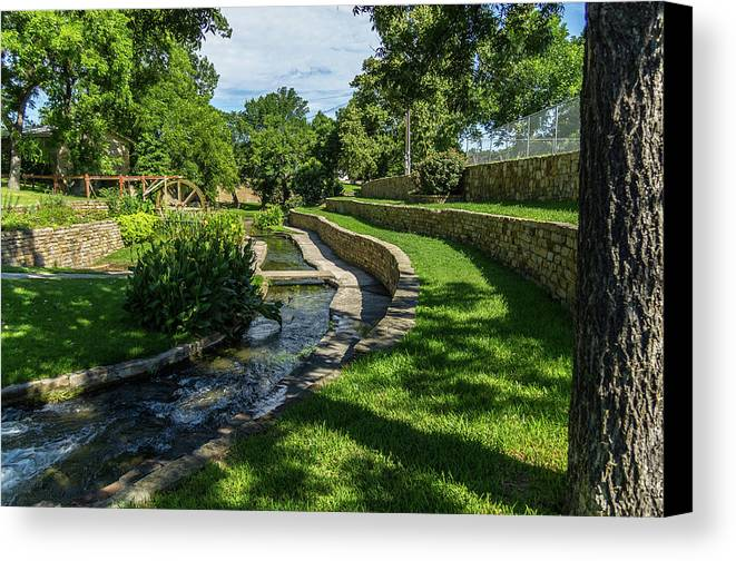 Park Canvas Print featuring the photograph A Walk In The Park by Bob Marquis