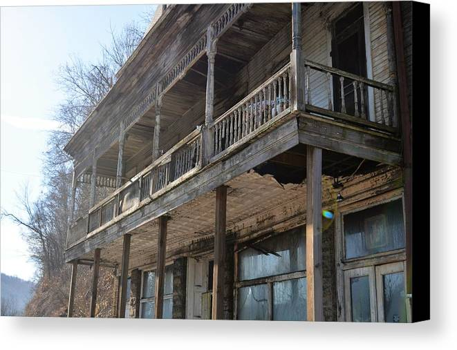 Abandoned Canvas Print featuring the photograph Abandoned Belvedere 1 by Shelley Smith