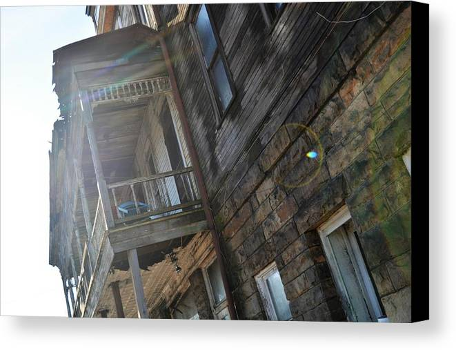 Abandoned Canvas Print featuring the photograph Abandoned Belvedere 2 by Shelley Smith