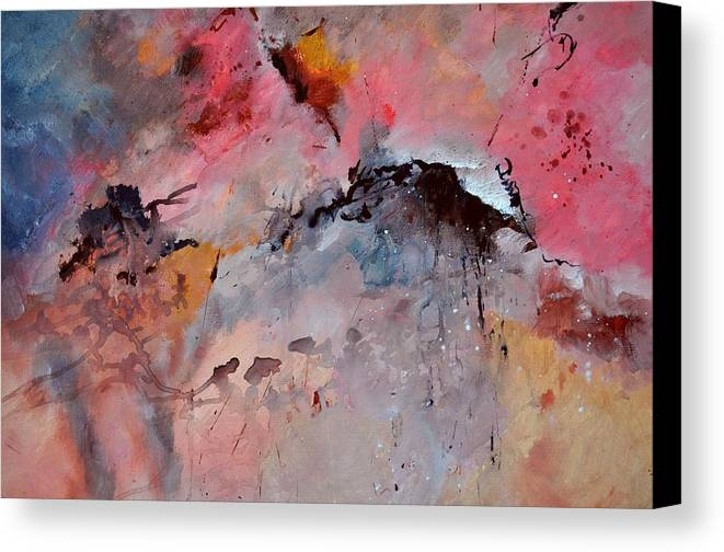 Abstract Canvas Print featuring the painting Abstract 015082 by Pol Ledent
